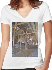 Across the shearing shed, Callandoon, Queensland, Australia Women's Fitted V-Neck T-Shirt