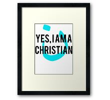 Yes, I am a  Christian Nun Symbol Framed Print