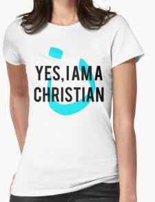 Yes, I am a  Christian Nun Symbol Womens Fitted T-Shirt