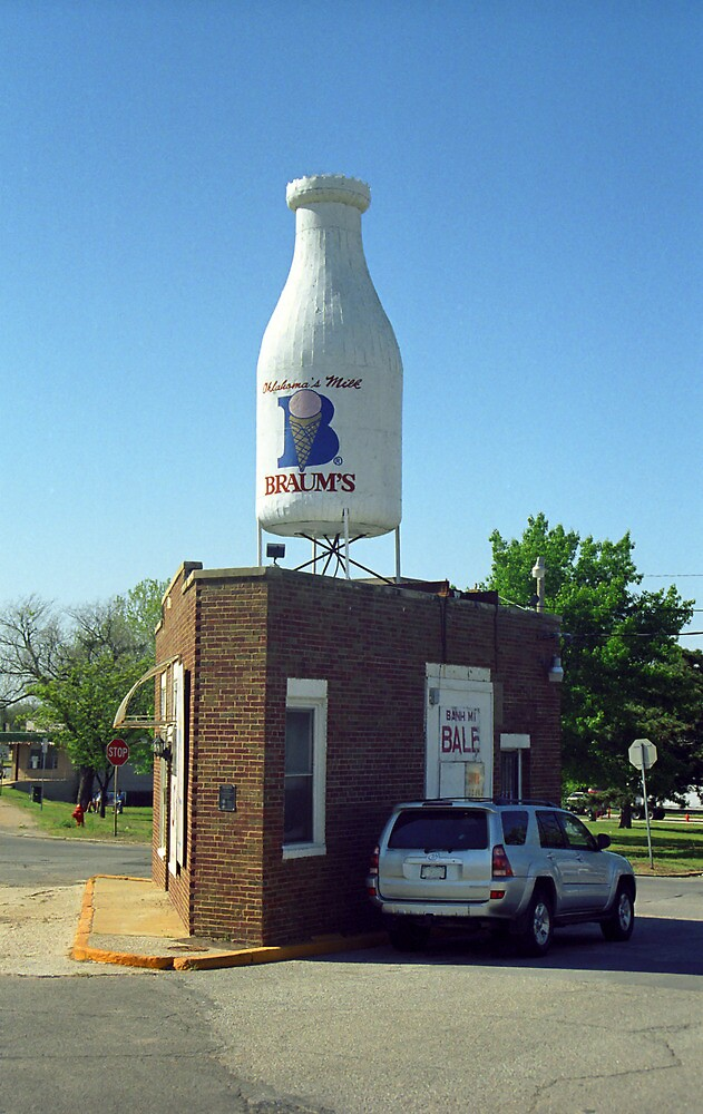 Route 66 - Giant Milk Bottle by Frank Romeo