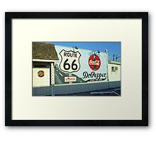 Route 66 - Mural with Shield Framed Print