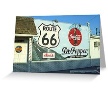 Route 66 - Mural with Shield Greeting Card