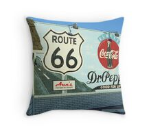 Route 66 - Mural with Shield Throw Pillow