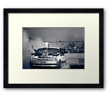 H8TRED Tread Cemetery Burnout Framed Print