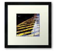 zebra wet Framed Print