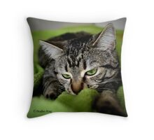 Fascination with Greenie Throw Pillow
