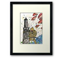 On a Rampage Framed Print