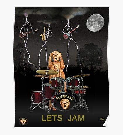 Scream Drums Jam Poster