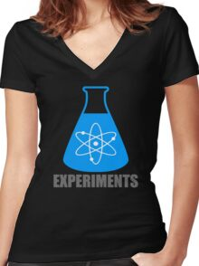 Beaker Chemistry Experiments Women's Fitted V-Neck T-Shirt