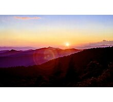 Blue Ridge Sunset Photographic Print
