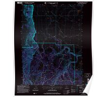 USGS Topo Map Oregon Little Honey Creek 280548 2004 24000 Inverted Poster