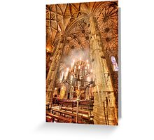 Jerónimos candles Greeting Card