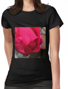 One Original Pink Rose Womens Fitted T-Shirt