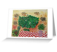 Strawberry Picnic with Litte Doubt Greeting Card