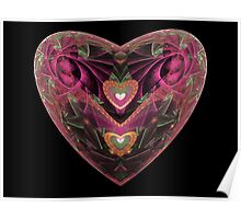 Escher Purple Heart  (UF0210) Poster