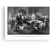 President Lincoln, His Cabinet, and General Scott Canvas Print