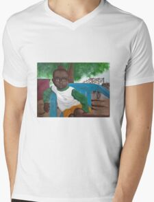 Boy in the Blue Chair Mens V-Neck T-Shirt