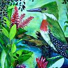 Green kingfisher, Belize by Lynda Earley