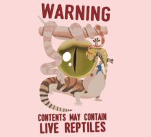 WARNING – LIVE REPTILES One Piece - Short Sleeve
