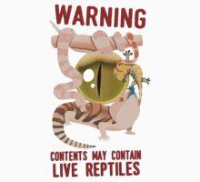 WARNING – LIVE REPTILES Kids Tee