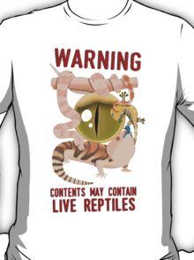 WARNING – LIVE REPTILES T-Shirt