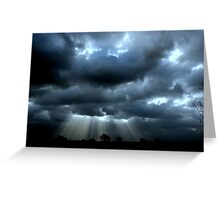 """CLOUD, WIND &RAYS"" Greeting Card"