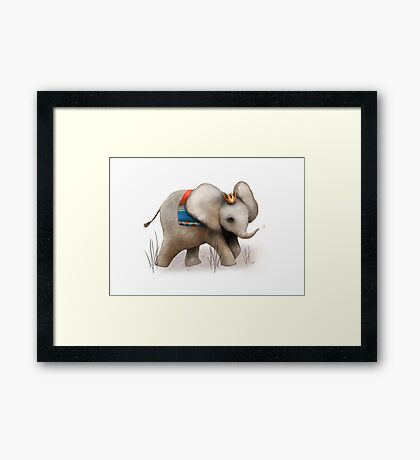 The Baby Elephant Prince Framed Print