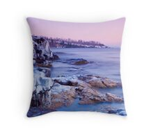 Winter Sunrise On Lake Superior Throw Pillow