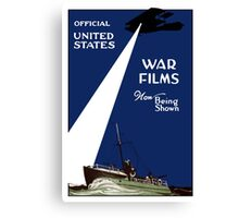 United States War Films Now Being Shown Canvas Print