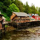 Creek Street, Ketchikan, Alaska by Barbara  Brown