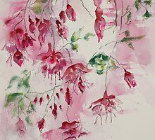 Cluster of Fuschias by Joyce Ann Burton-Sousa