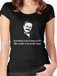 Boy meets world: Mr. Feeny  Women's Fitted Scoop T-Shirt