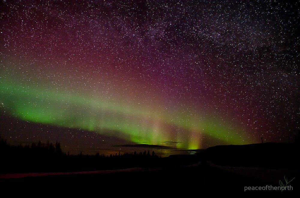 The Night the Sky Turned Purple and Green and the Stars Came Out by peaceofthenorth