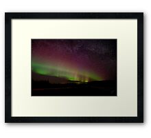 The Night the Sky Turned Purple and Green and the Stars Came Out Framed Print