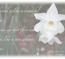 White flower by DreamCatcher/ Kyrah Barbette L Hale
