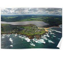 Aerial Great Ocean Road Victoria Australia Poster