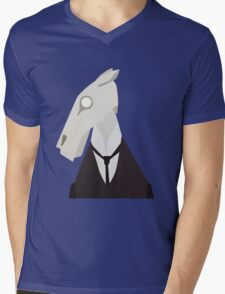 Brook Horse Mens V-Neck T-Shirt