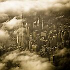 Empire State Building in Clouds by ksmdigiphoto