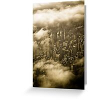 Empire State Building in Clouds Greeting Card
