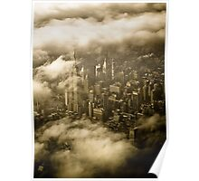 Empire State Building in Clouds Poster
