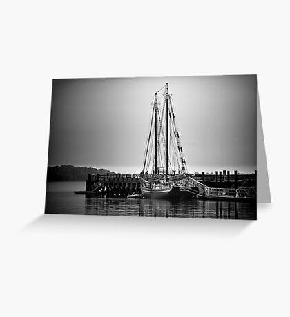 Sailboat at New Haven Pier Greeting Card