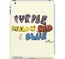 Purple Yellow Red & Blue iPad Case/Skin