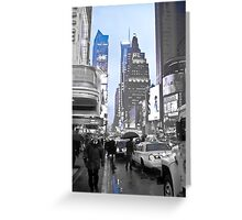 New York in Blue Greeting Card