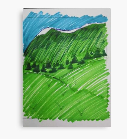Green as the Hills Canvas Print
