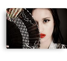 In the Eyes of a Geisha Canvas Print