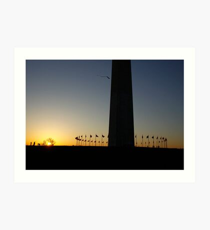 Sunset at Washington Monument Art Print