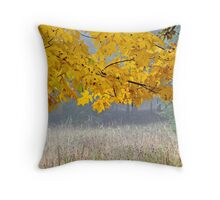 Leaves of Gold Throw Pillow