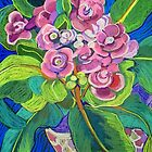 Pink Polyanthus by marlene veronique holdsworth