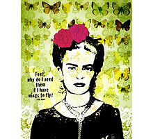 flying frida  Photographic Print