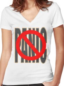 do not PANIC Women's Fitted V-Neck T-Shirt